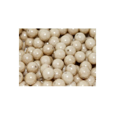 Perle in vetro ceche 6 mm Chalk White Latte Luster 30 pz