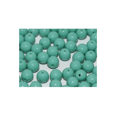 Perle in vetro ceche 6 mm Jade 30 pz