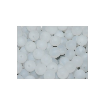 Perle in vetro ceche 6 mm White Opal Matted 30 pz