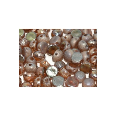 Cabochon 2 fori 6 mm Crystal Etched Celsian Full - 10 pz