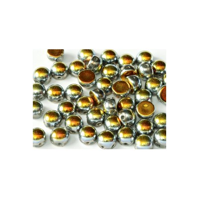 Cabochon 2 fori 6 mm Crystal Full Marea - 10 pz