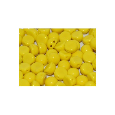 Cabochon 2 fori 6 mm Lemon  - 10 pz